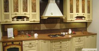 Кухня из массива ясеня Палермо