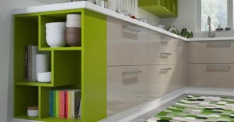 Кухня тетрис зеленая
